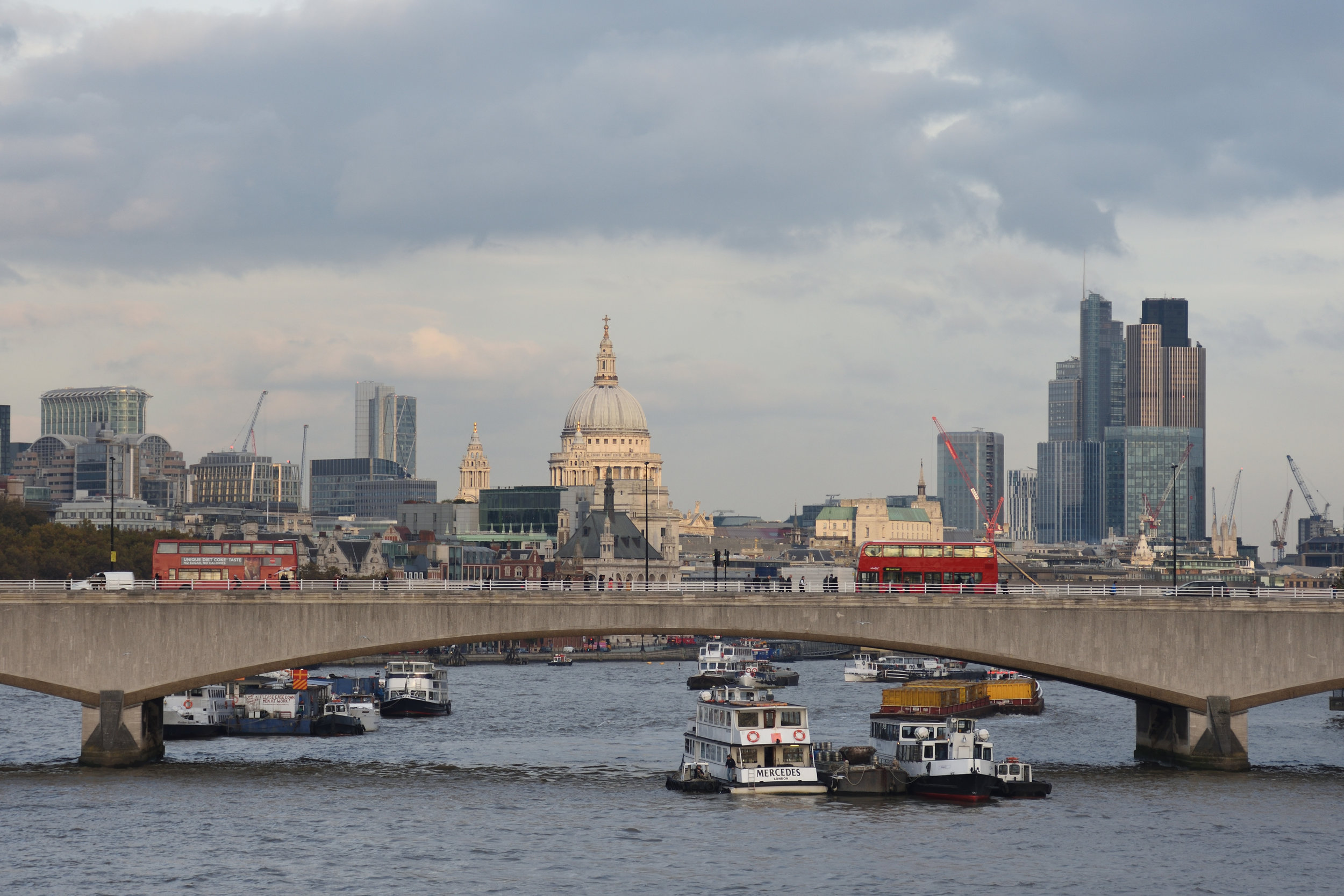 View over the Thames, London 2016
