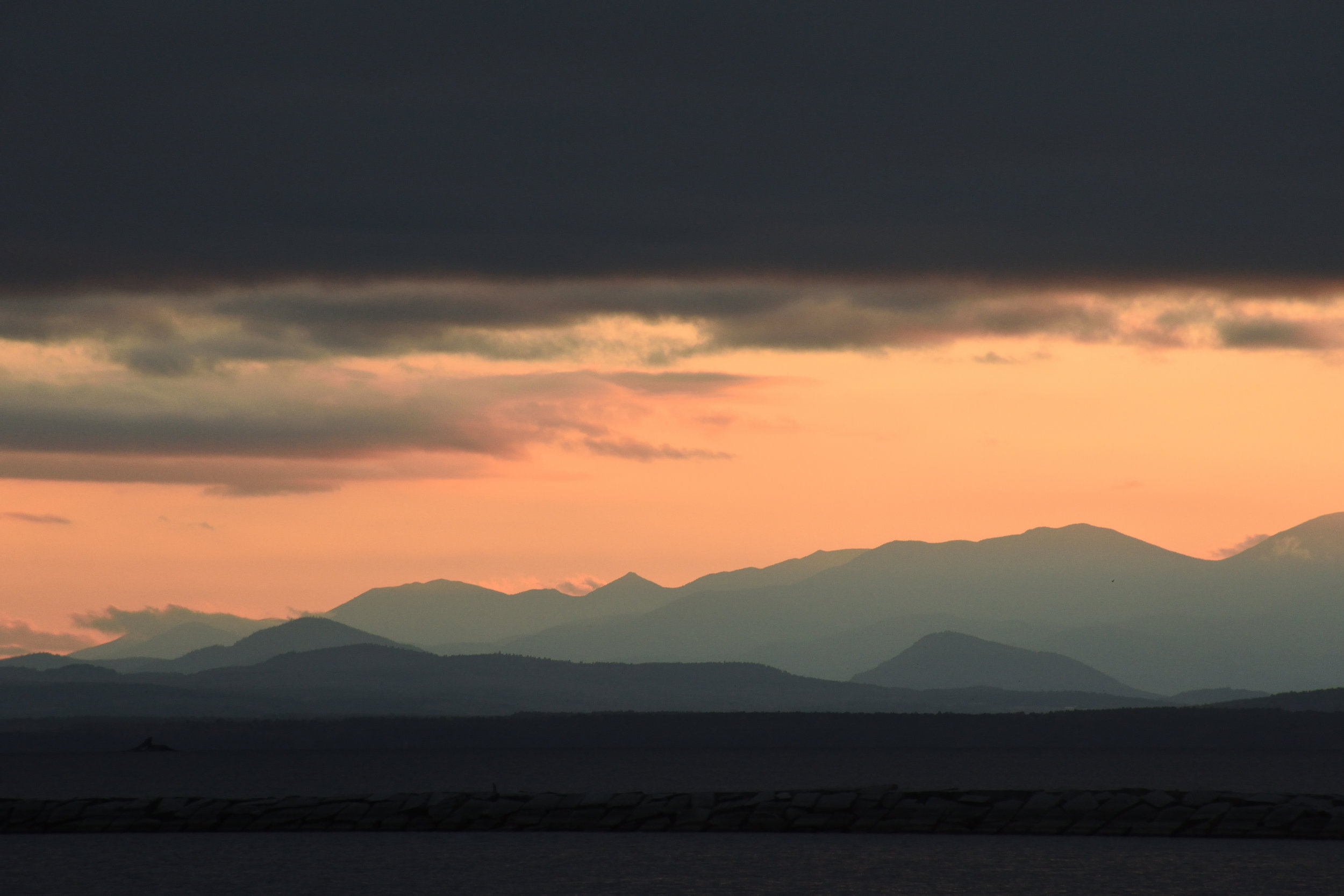 Sunset Lake Champlain 2016
