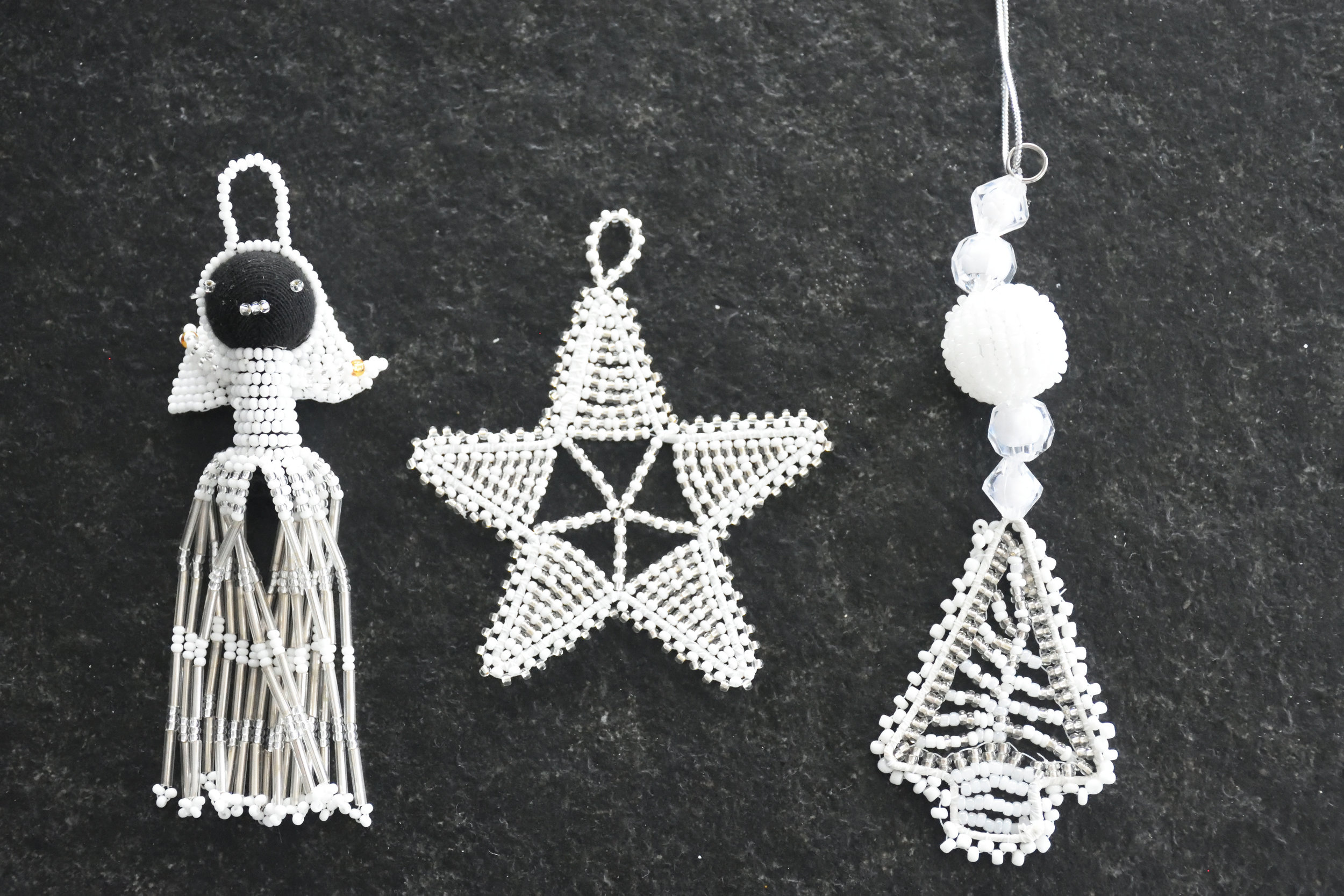 Christmas decoration made by Zulu women. South Africa, 2016
