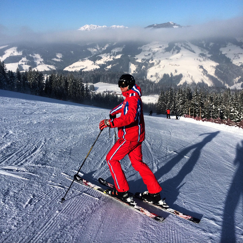 My husband Bojan, Flachau Ski Area 2015