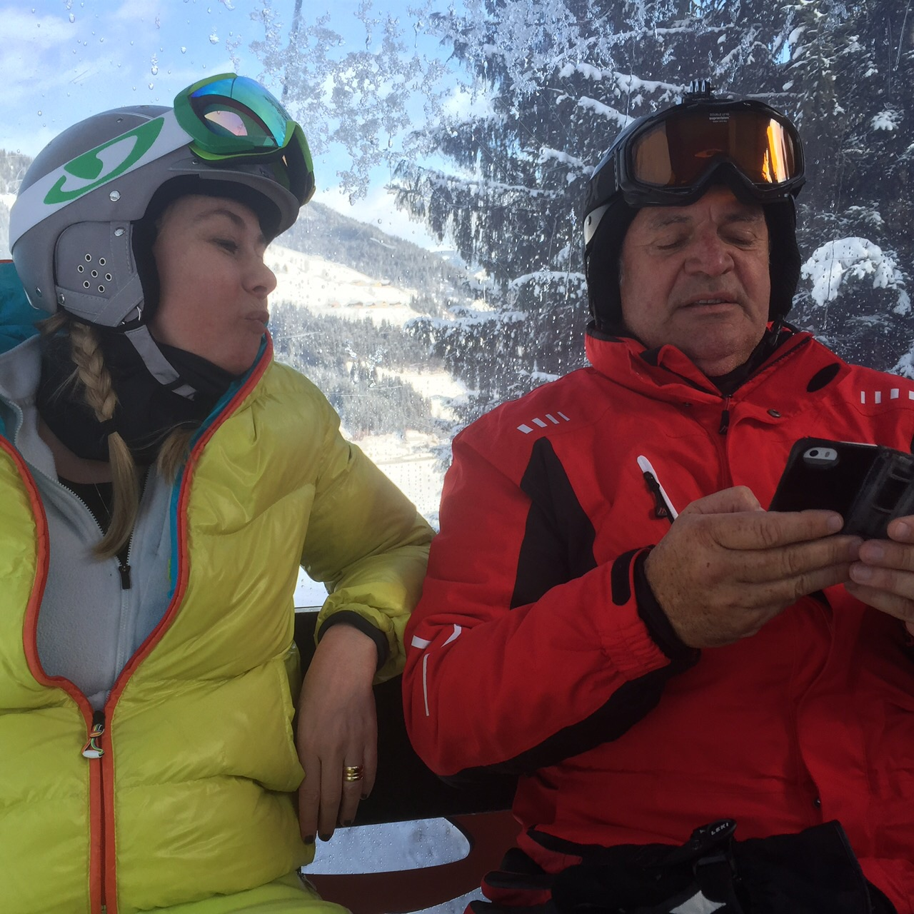 Me and our friend Keith, Flachau Ski Area 2016