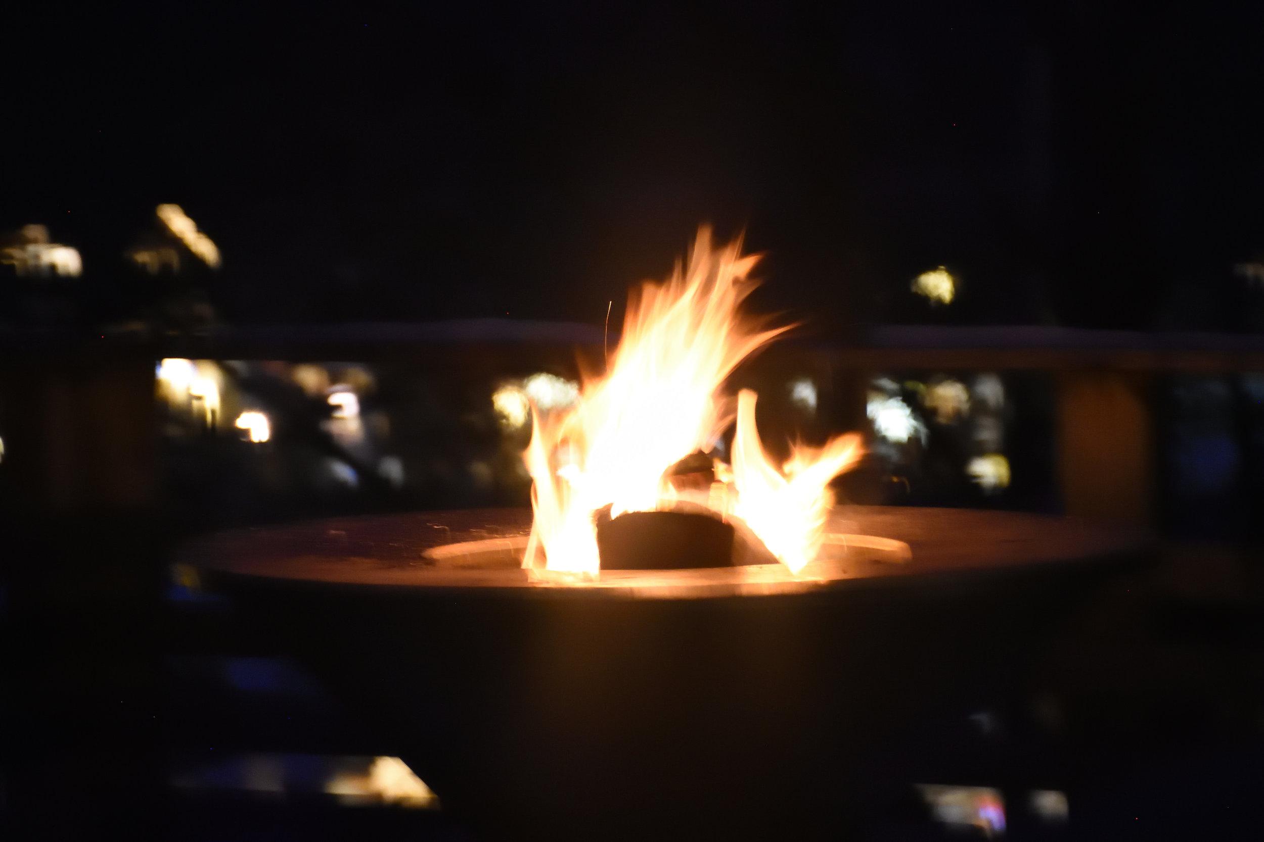 The bonfire on our terrace, Christmas 2016