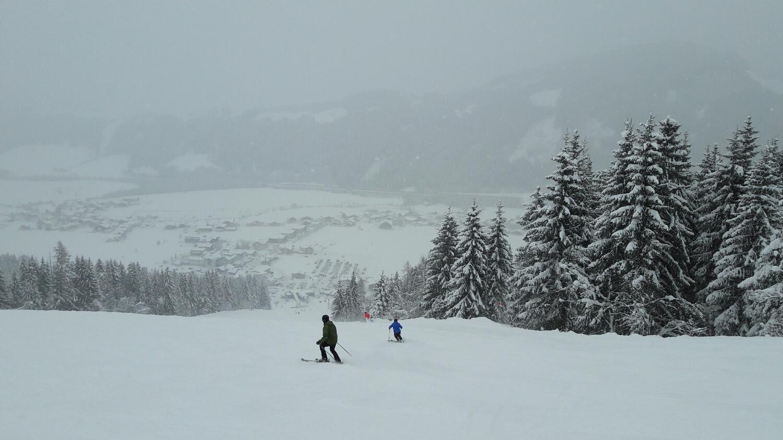 """Our"" ski slope, Flachau 2016"