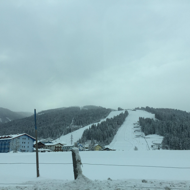 Ski slopes from the village, Flachau 2016