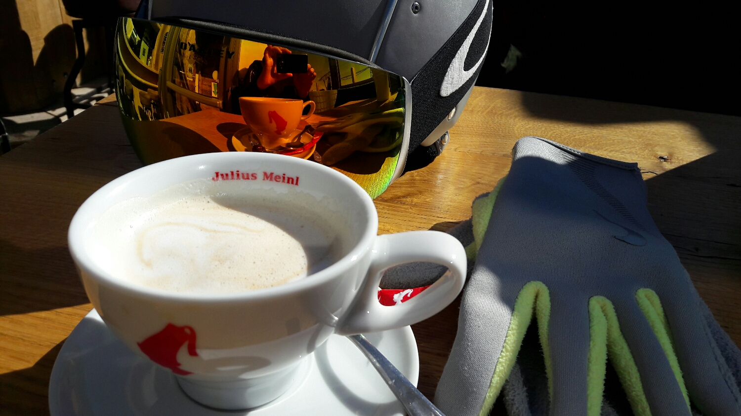Best cappuccino in the mountain at Gipfelstadl, Wagrain, 2017