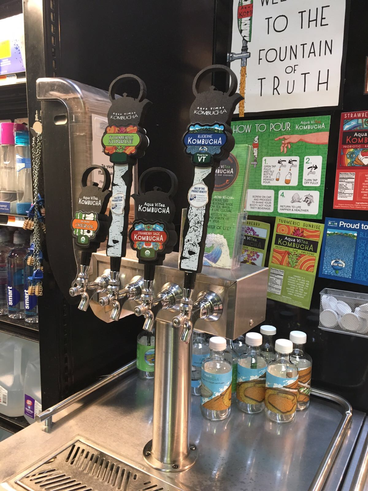 A Kombucha draft in Burlington, VT
