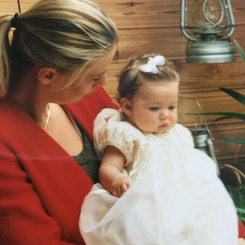 Me & Gaby at Gaby being baptiste, Uddevalla 1994
