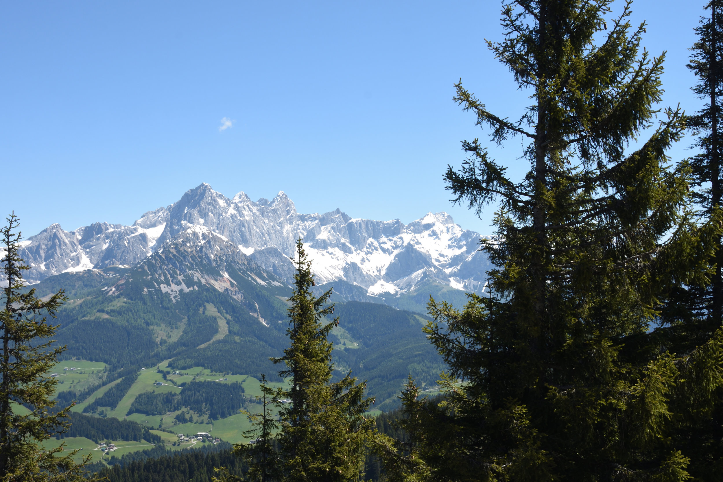 Hochkönig view from Roosbrand, Radstadt May 2017