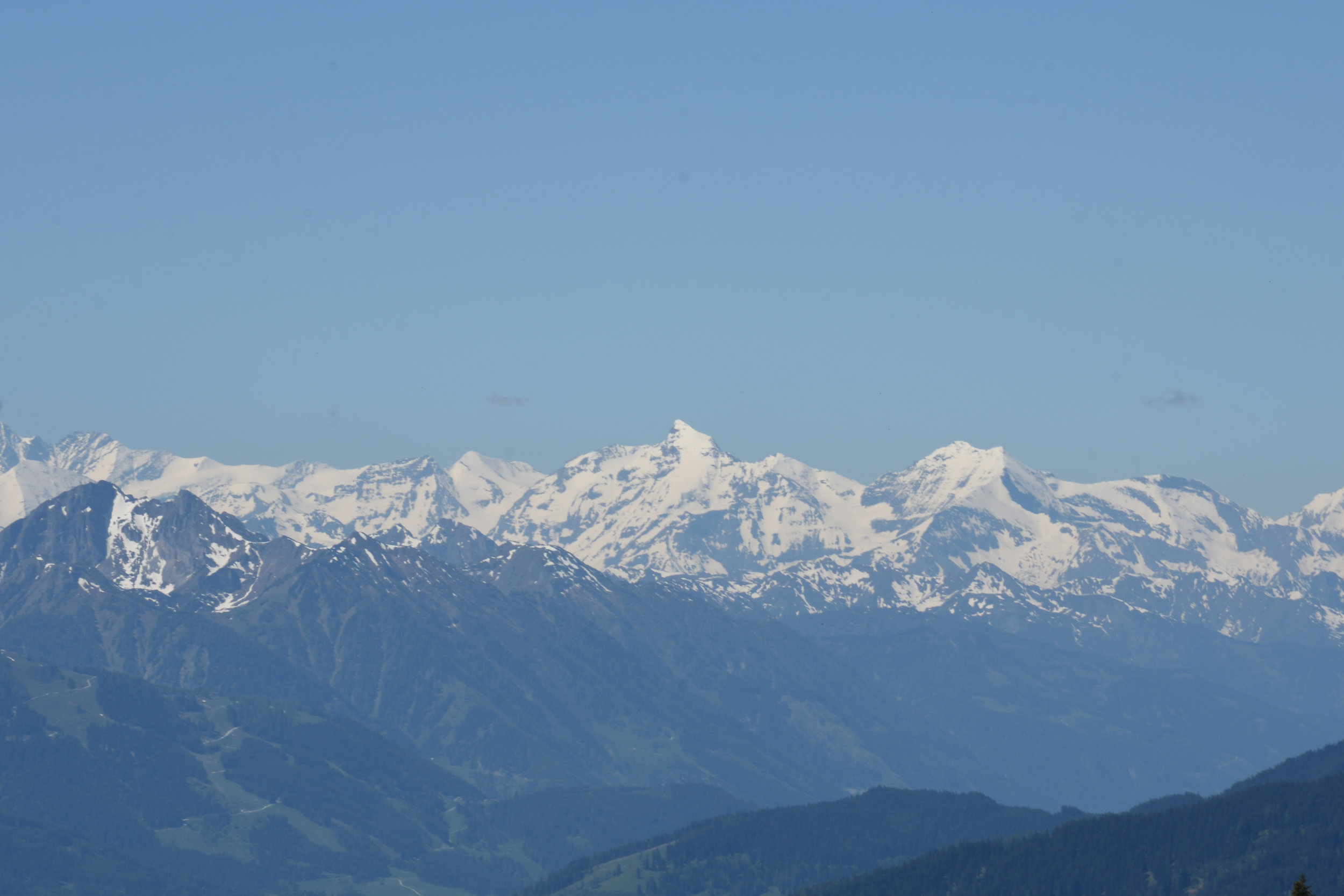 Kaprun view from Roosbrand, Radstadt May 2017