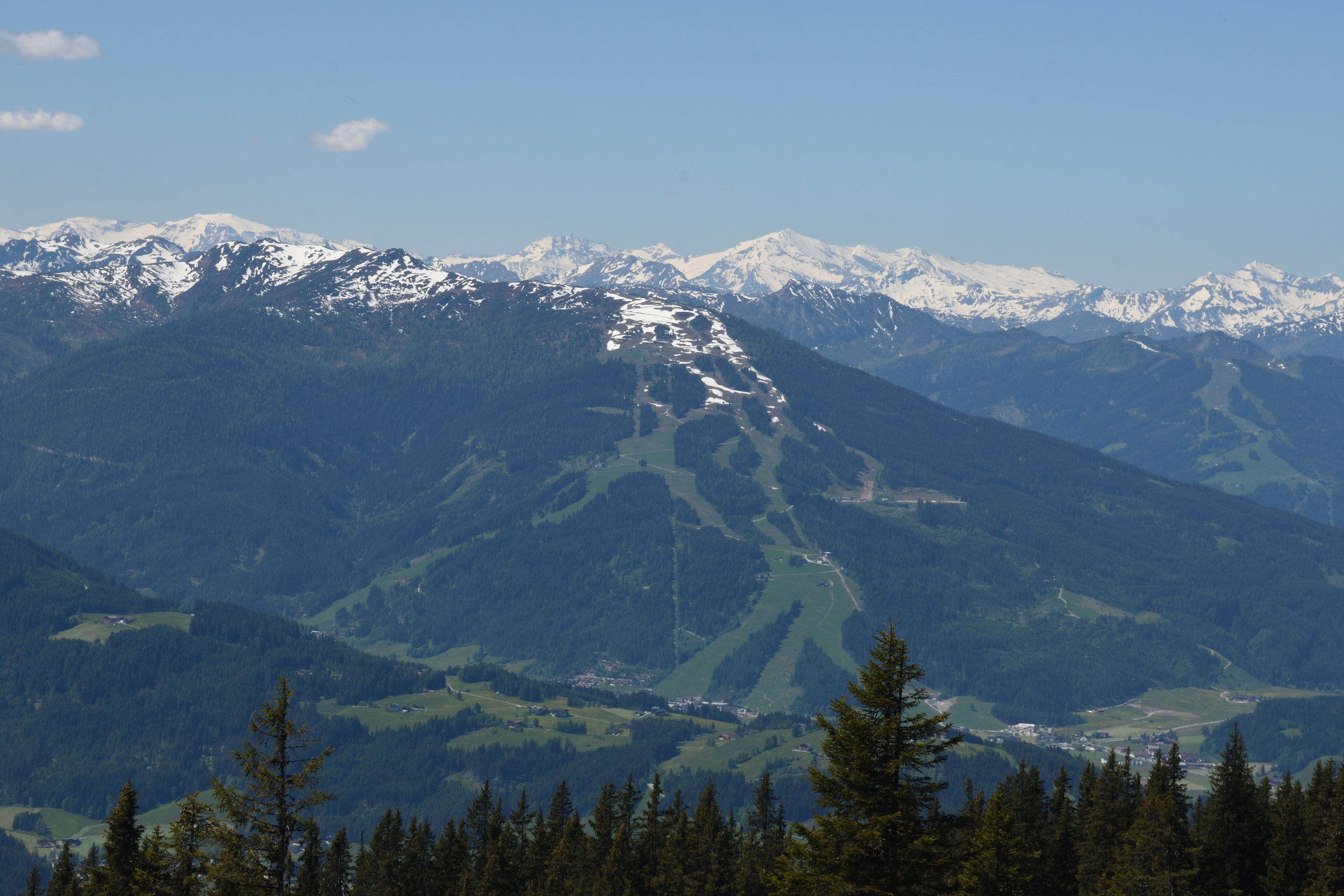 Flachau view from Roosbrand, Radstadt May 2017