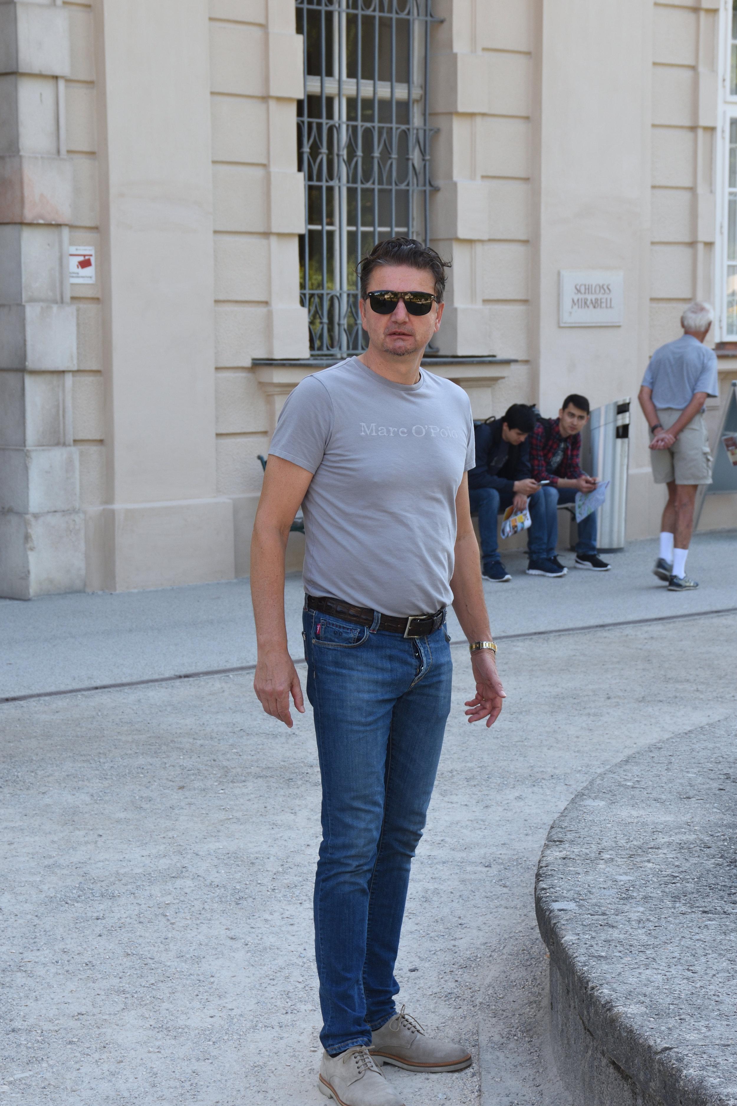 Bojan at Schloss Mirabell, Salzburg, June 2017