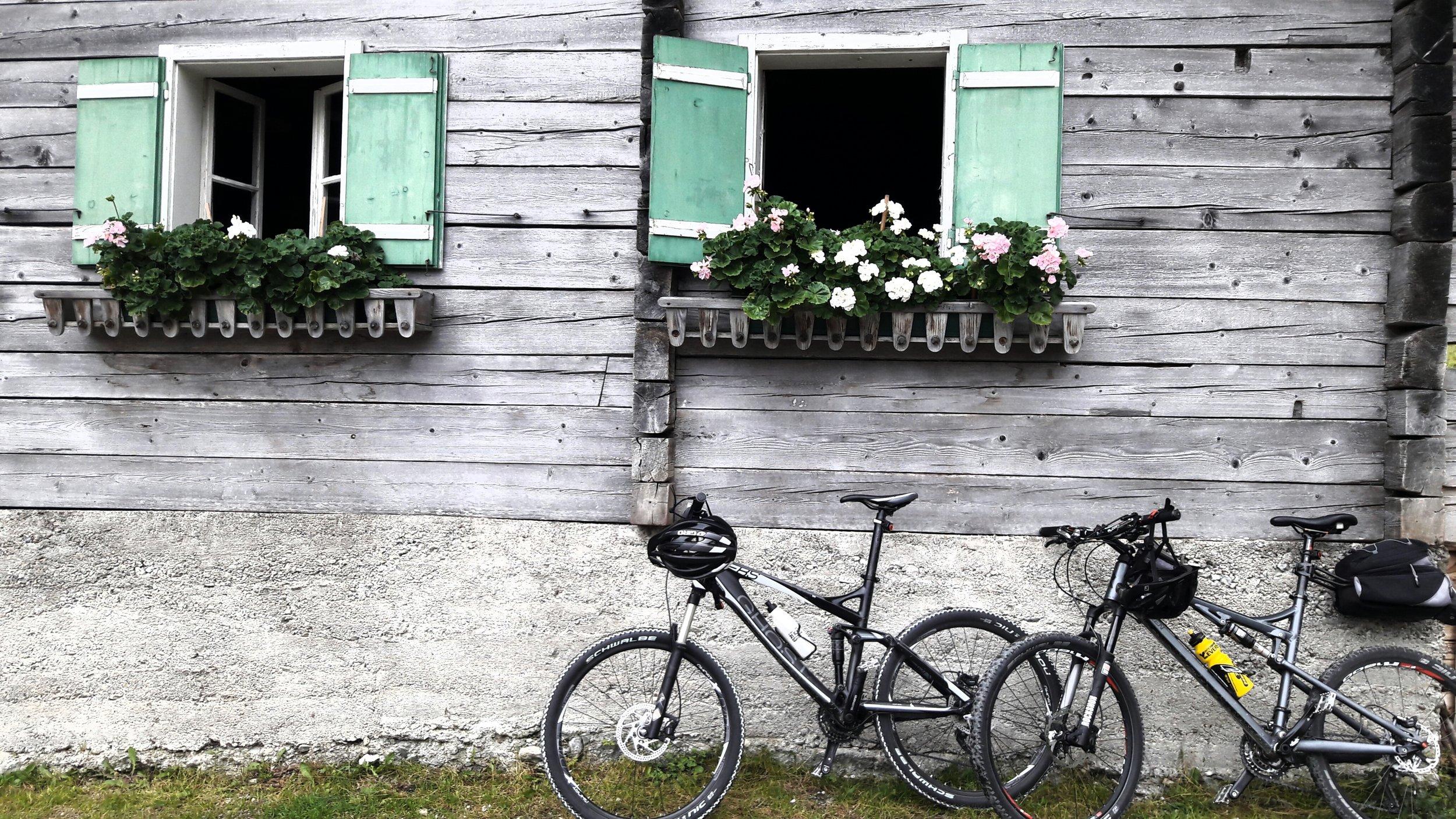 Taking a rest at Marbachquelle, Flachauwinkl, Austria July 2017