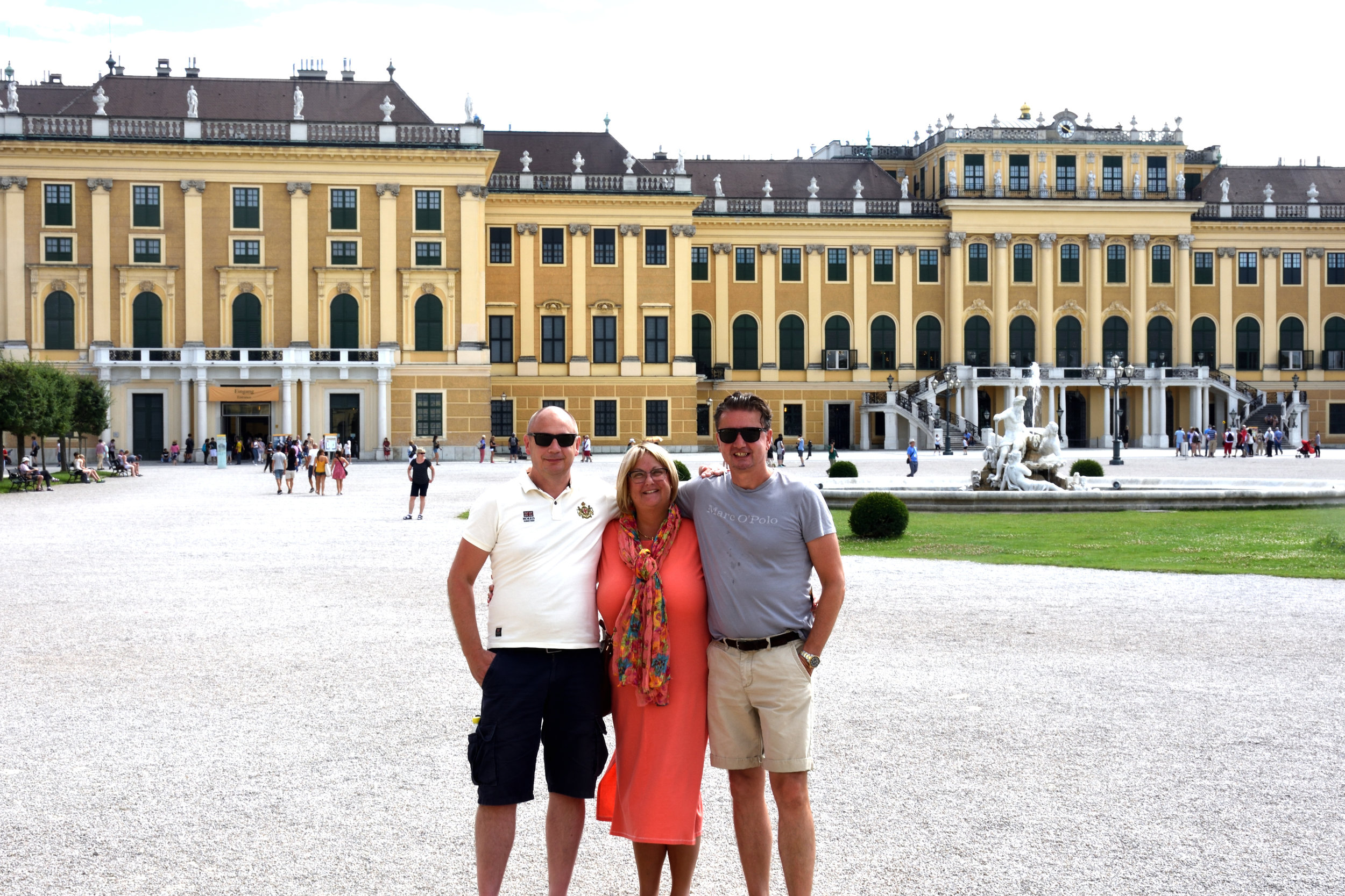 Stefan, Ullis & Bojan at Schönbrunn castle, Vienna July 2017