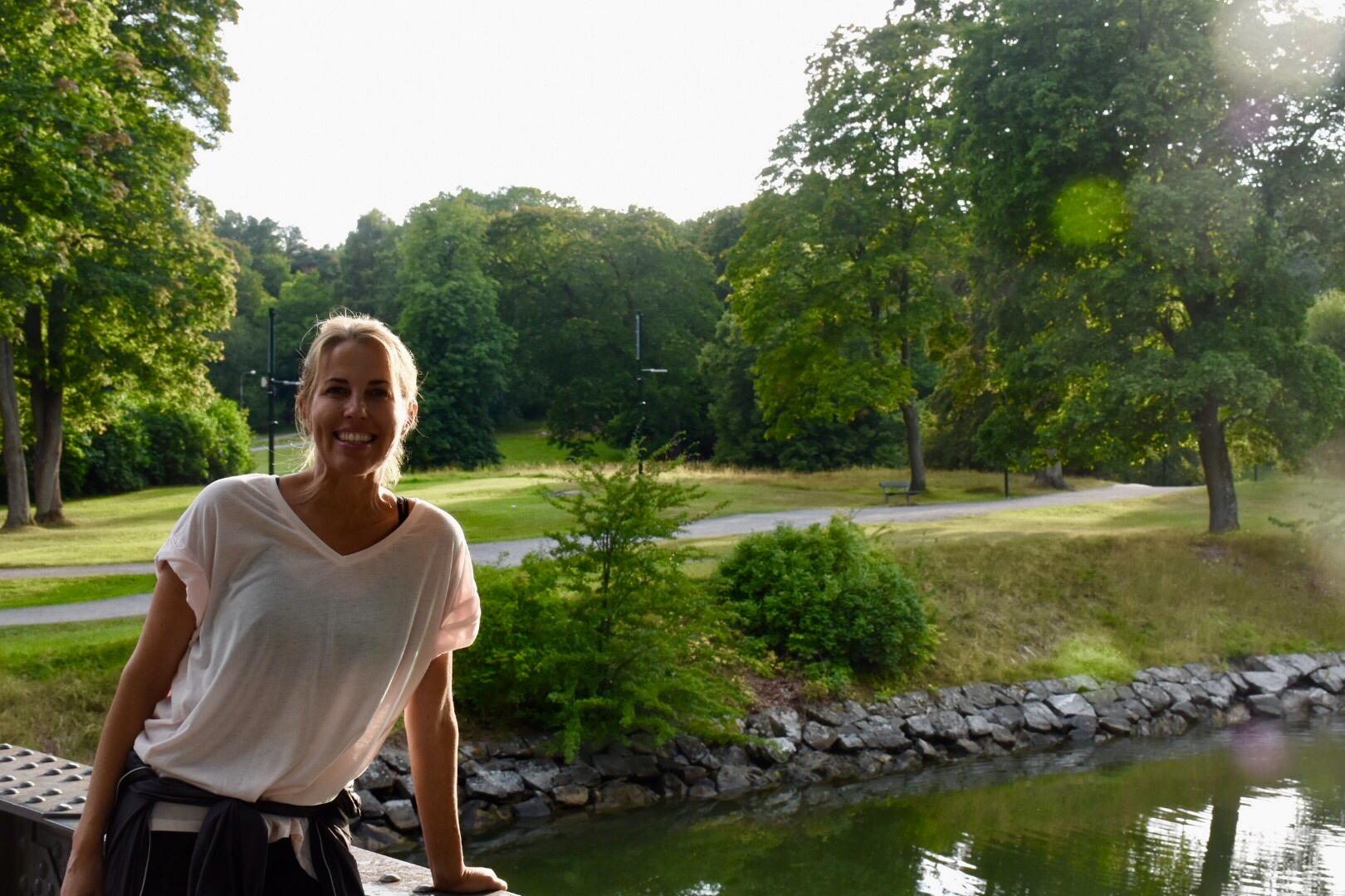Anna my beautiful friend at pw around Djurgården, Stockholm August 2017
