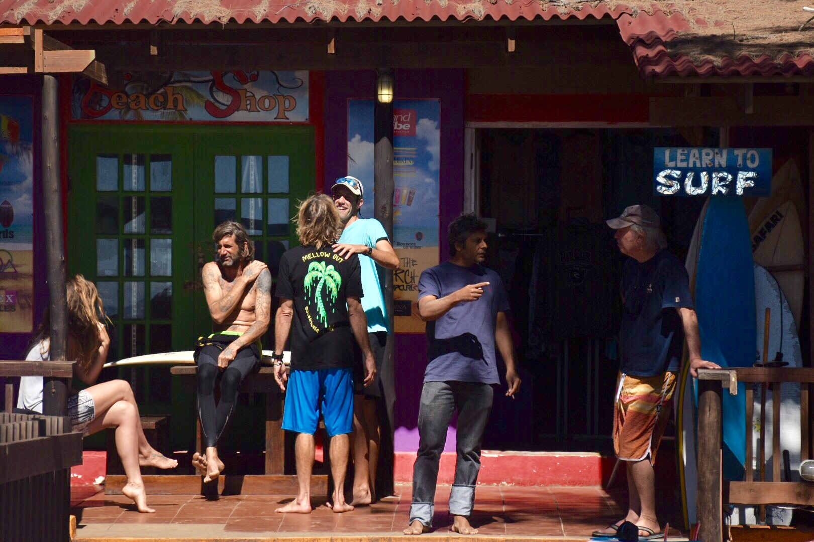 Surfing dudes in Ponta de Ouro, Mozambique, September 2017