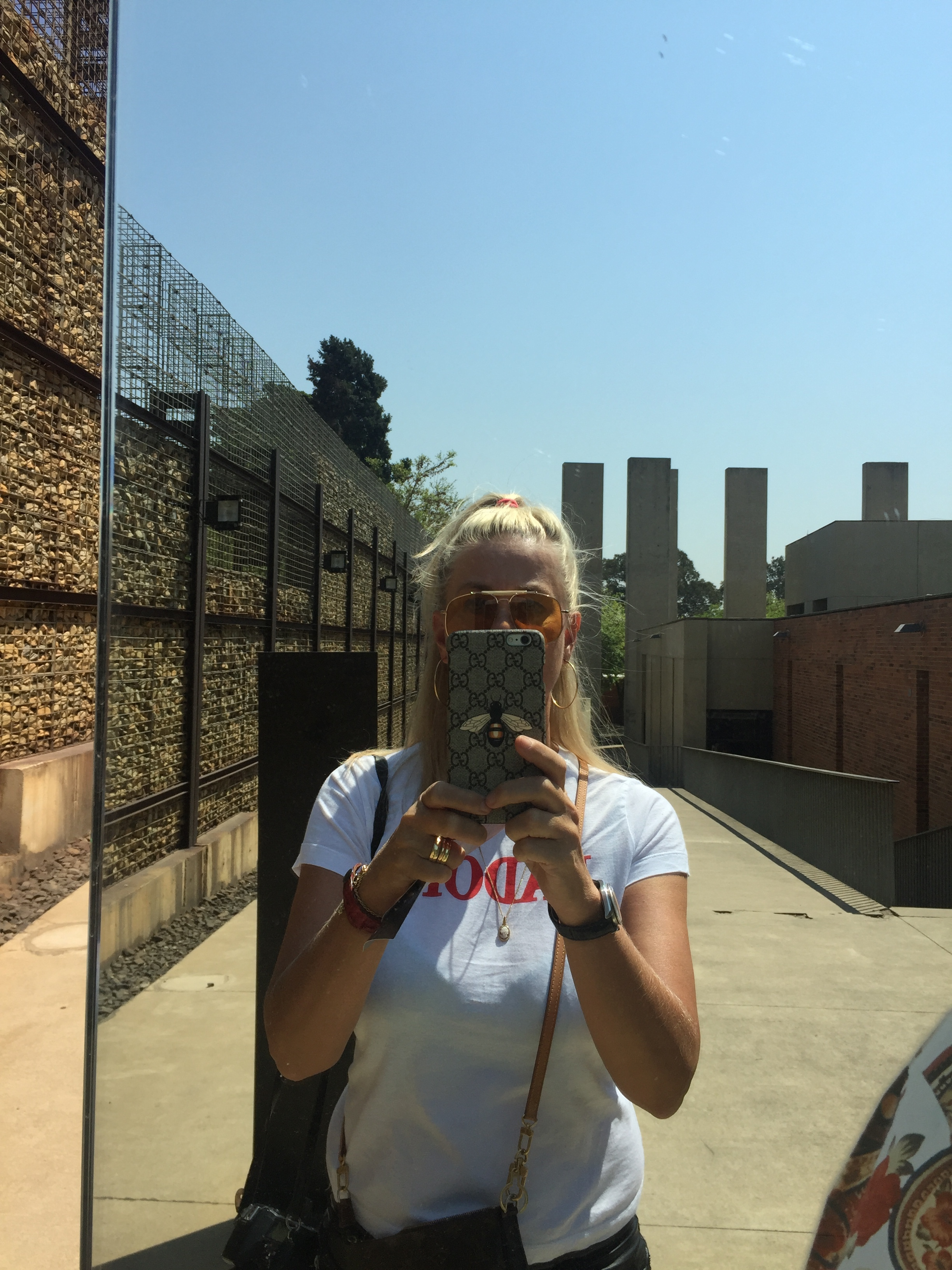 Me at the Ramp, Apartheid Museum, Johannesburg, September 2017
