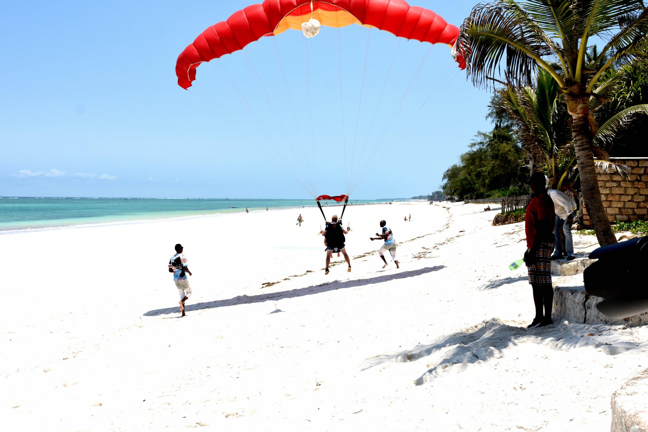 Skydiving at Diani Beach, Kenya, October 2017