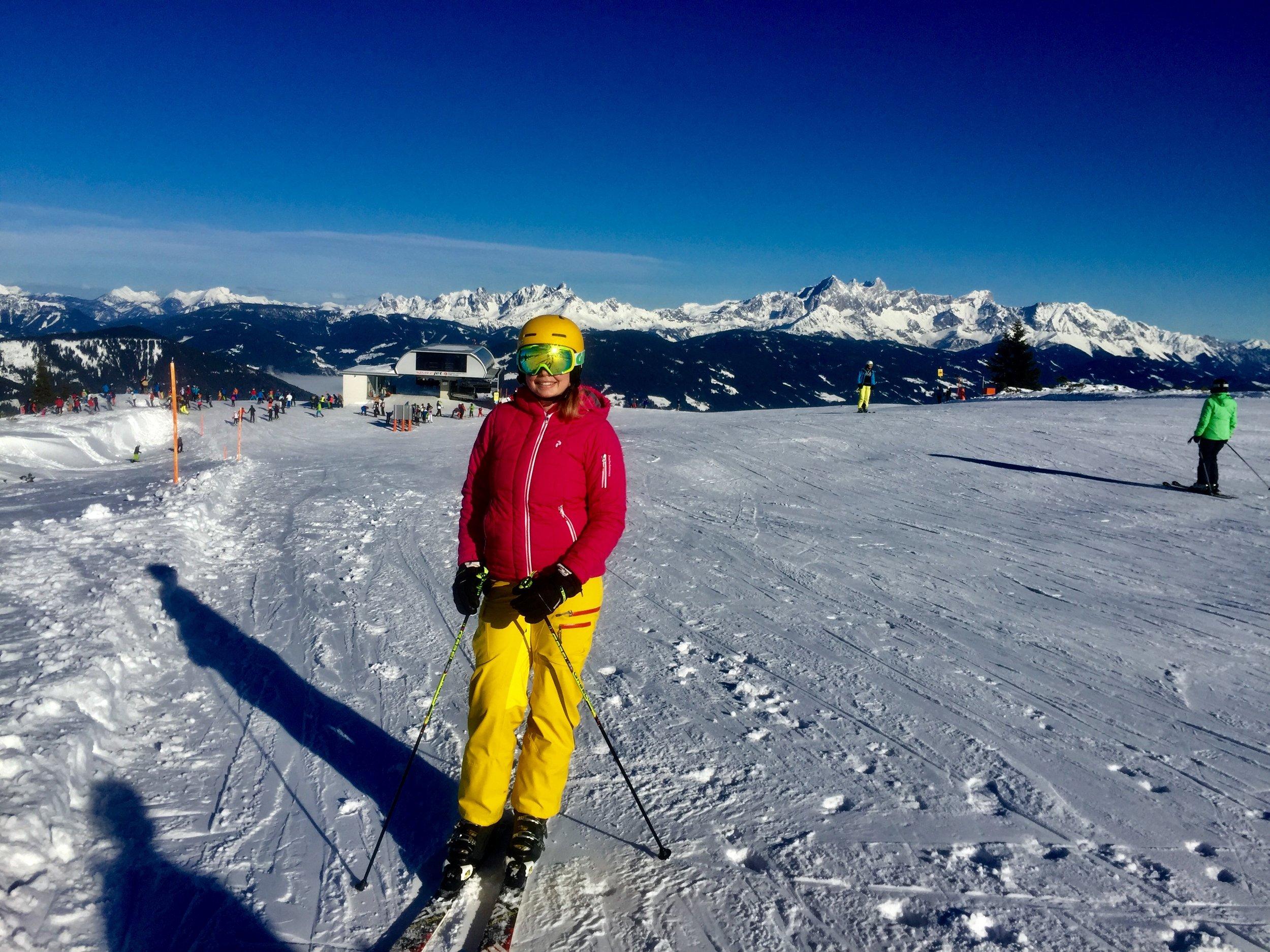 Gaby in the ski slope, Flachau 2017
