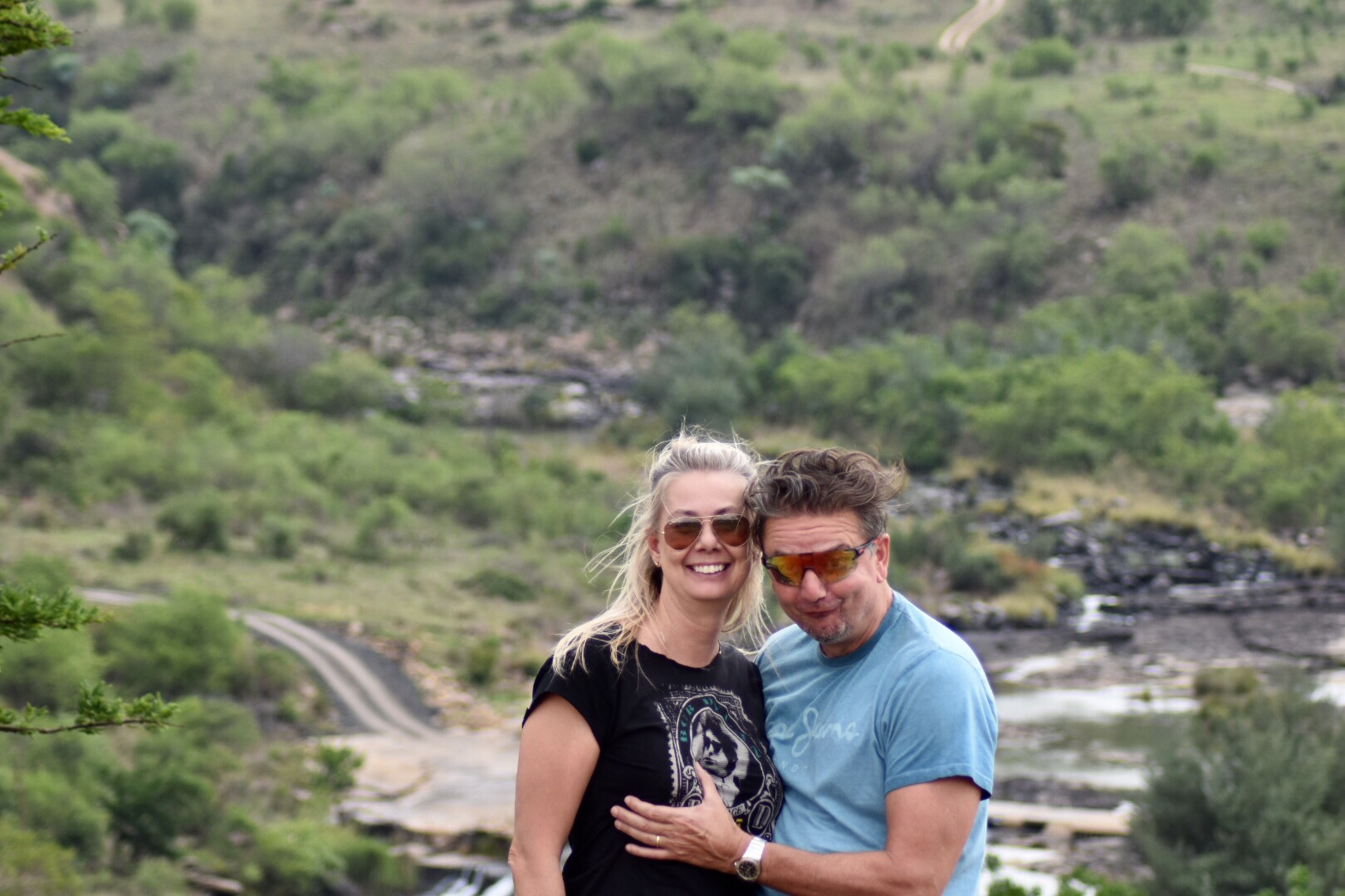 Me and husband, South Africa, 2017