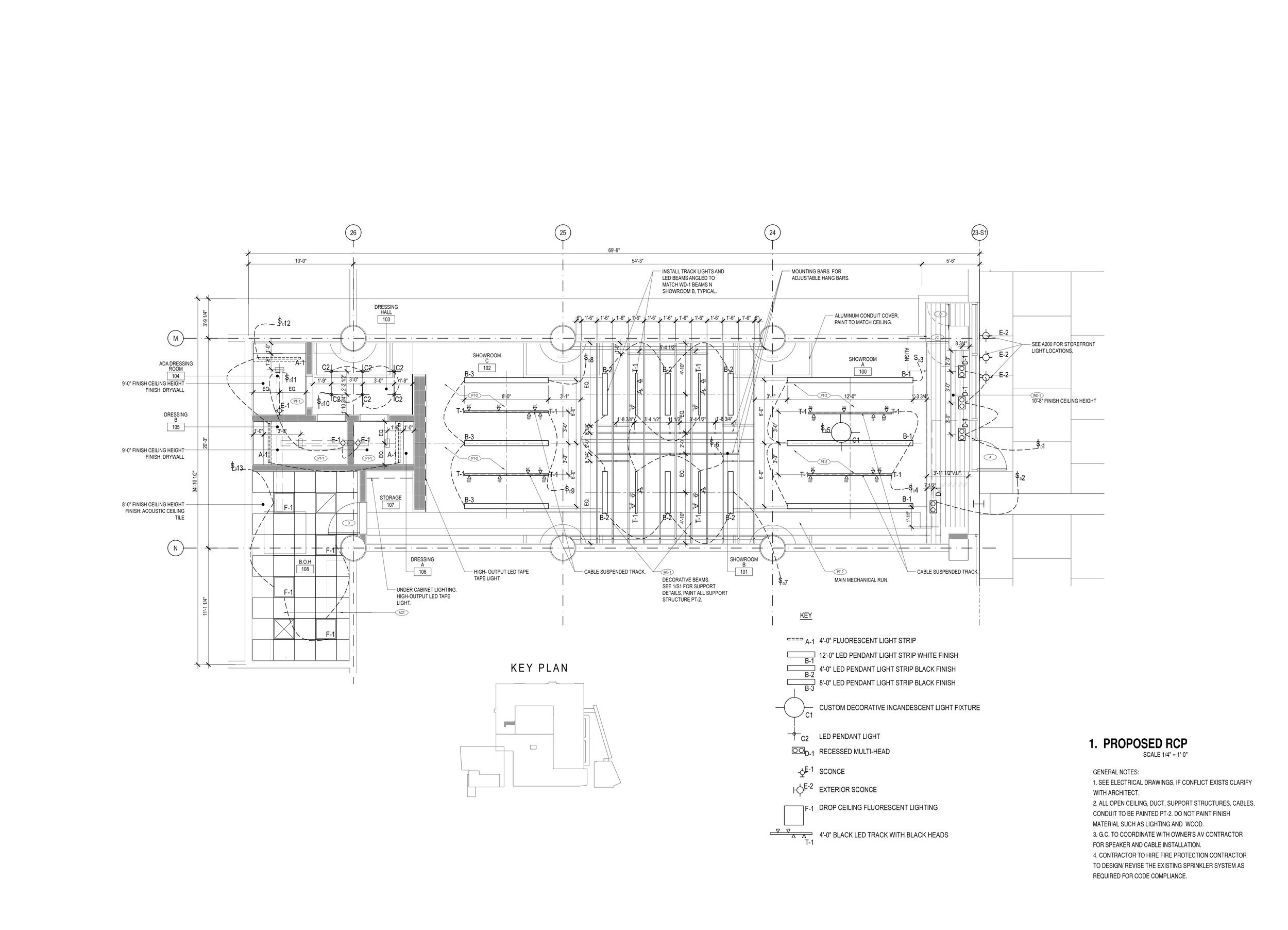Sample Reflected Ceiling Plan