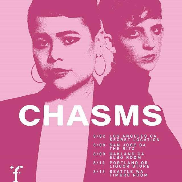 """FALSE PROPHET is back and pleased to present the first show of 2019. Co-presenting with Timbre Room Presents we invite you to: . CHASMS Chasms was formed in 2011 by Jess Labrador and Shannon Madden. Following 2016's 'On the Legs of Love Purified' and the recent """"Divine Illusion"""" single, 'The Mirage' pushes the band's ethereal sound into the murky depths of dub. Marking a sonic shift for the project, 'The Mirage' finds the duo trading in chaotic bursts of noise for understated minimalism that's still characteristically melancholic and potent with emotion. Labrador's drum production is as deft as ever with an expanded range of electronic samples and tape-delay-induced polyrhythms. Layered with Madden's persistently dubby bass, Labrador's sparse guitar and gliding soprano float above a labyrinth of hypnotic sequences. These dub-laced dirges signify growth within the band, heard in their command of repetition, space, and effects to build a pervasive mood that's often utterly heartbreaking. . With support from..... . somesurprises Seattle's somesurprises shifts from bedroom tapes to the recording studio with a 21-minute, 3-track EP. Their first release since the widely-loved """"serious dreams"""" on Eiderdown Records, """"Alt"""" features a variety of new sounds not previously heard on the band's recordings.  Dead Spells death sounds Wednesday, March 13th  8 - 11 PM ADV $10 