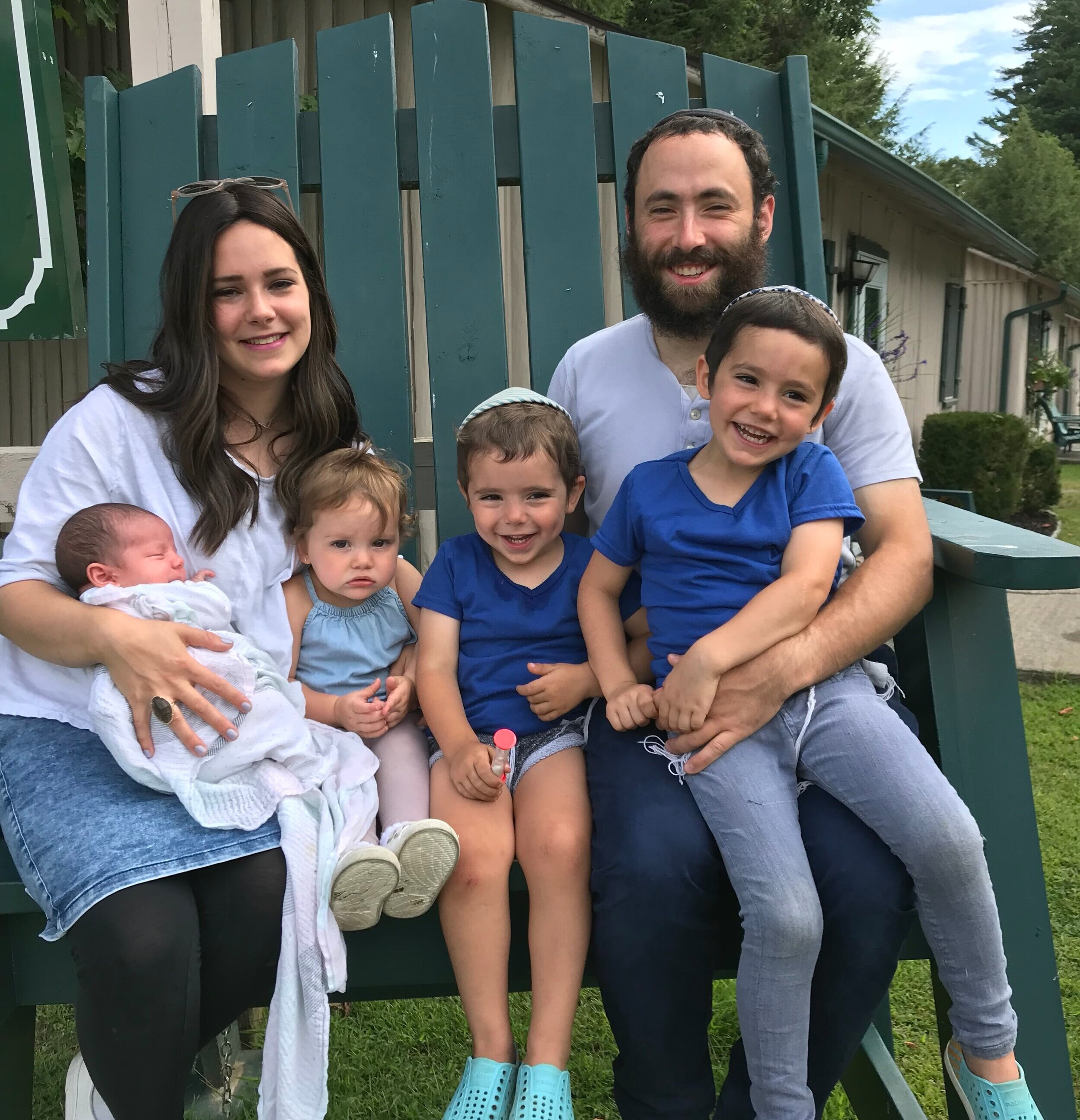 """Mendel Stiefel has been co-directing Camp Gan Israel since 2014. In summer of 2017 his wife Chana Stiefel joined as co-director. Growing up, Mendel attended Gan Israel both as a camper and counselor in many different countries including a resident camp in Ukraine for impoverished children. During the off season, he acts as youth director at the Chabad of Northwest NJ, doing holiday and Shabbat programs, teen programming, as well as directing an exciting winter camp. He also teaches part time at the Gottesman RTW Academy. Chana Stiefel grew up in Rockaway New Jersey. During the off season she acts as the assistant director of the Chabad Early Learning Center in Rockaway NJ. Last summer, due to the growth of the camp, Chana joined as co-director of CGI. They live together with their 3 children in White Meadow Lake, NJ. """"We see it as a great opportunity to be involved in making memorable summers for our community children that are sure to last a lifetime!"""