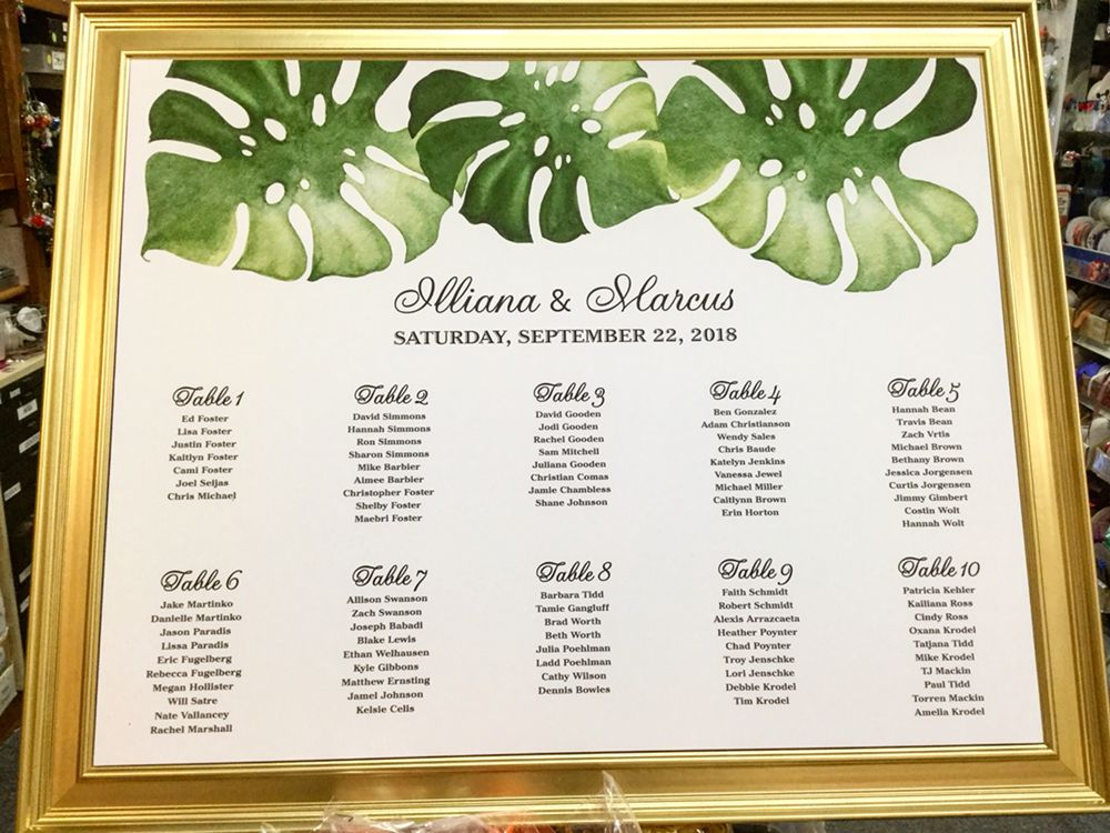 wedding table assignment board cost on oahu honolulu to see reviews from events