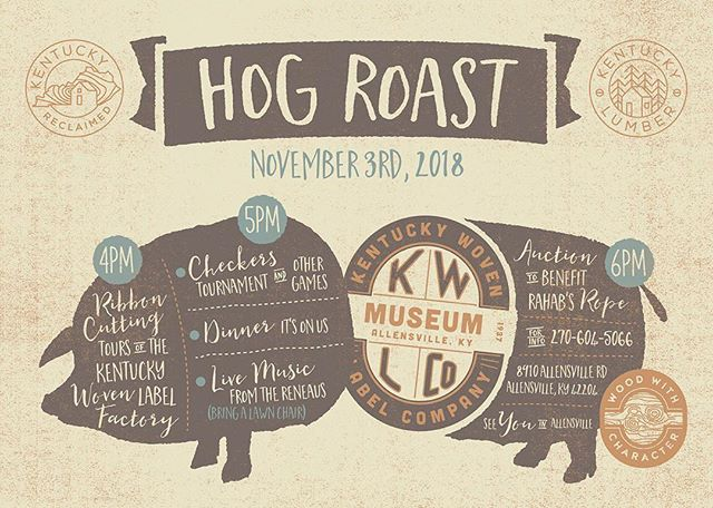 Come see us play an acoustic set tomorrow evening in Allensville, KY! Family friendly and free food! #hogroast