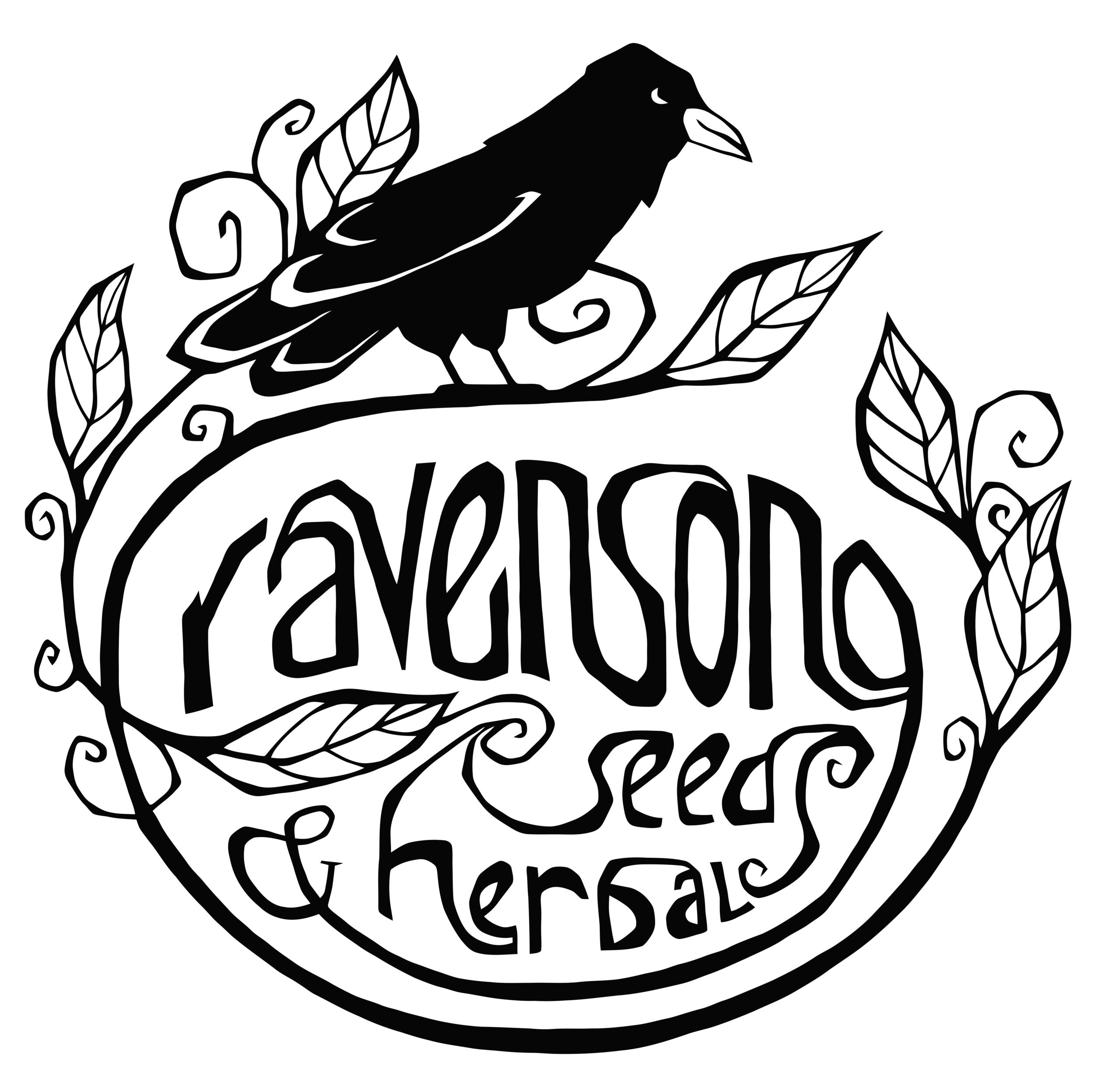 Ravensong Seeds & Herbals logo.png