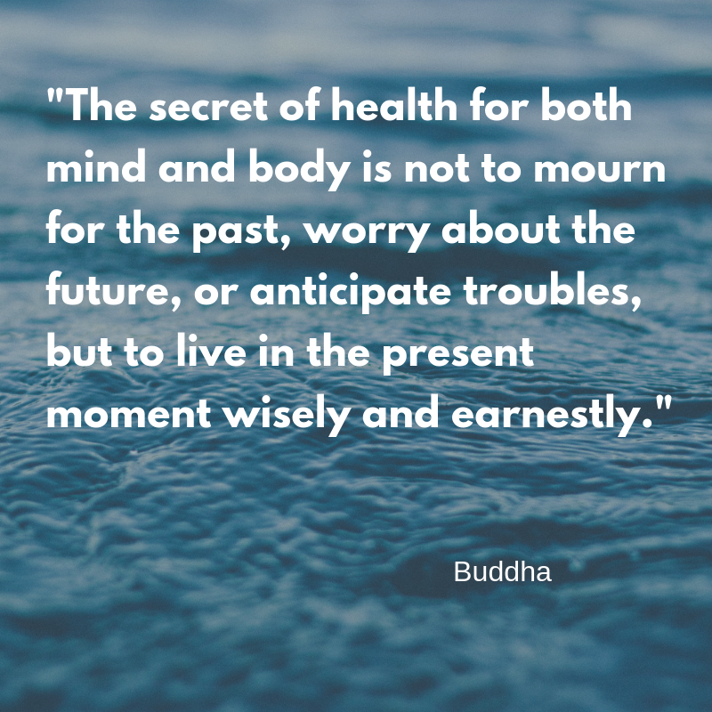 %22The secret of health for both mind and body is not to mourn for the past, worry about the future, or anticipate troubles, but to live in the present moment wisely and earnestly.%22 Buddha.png