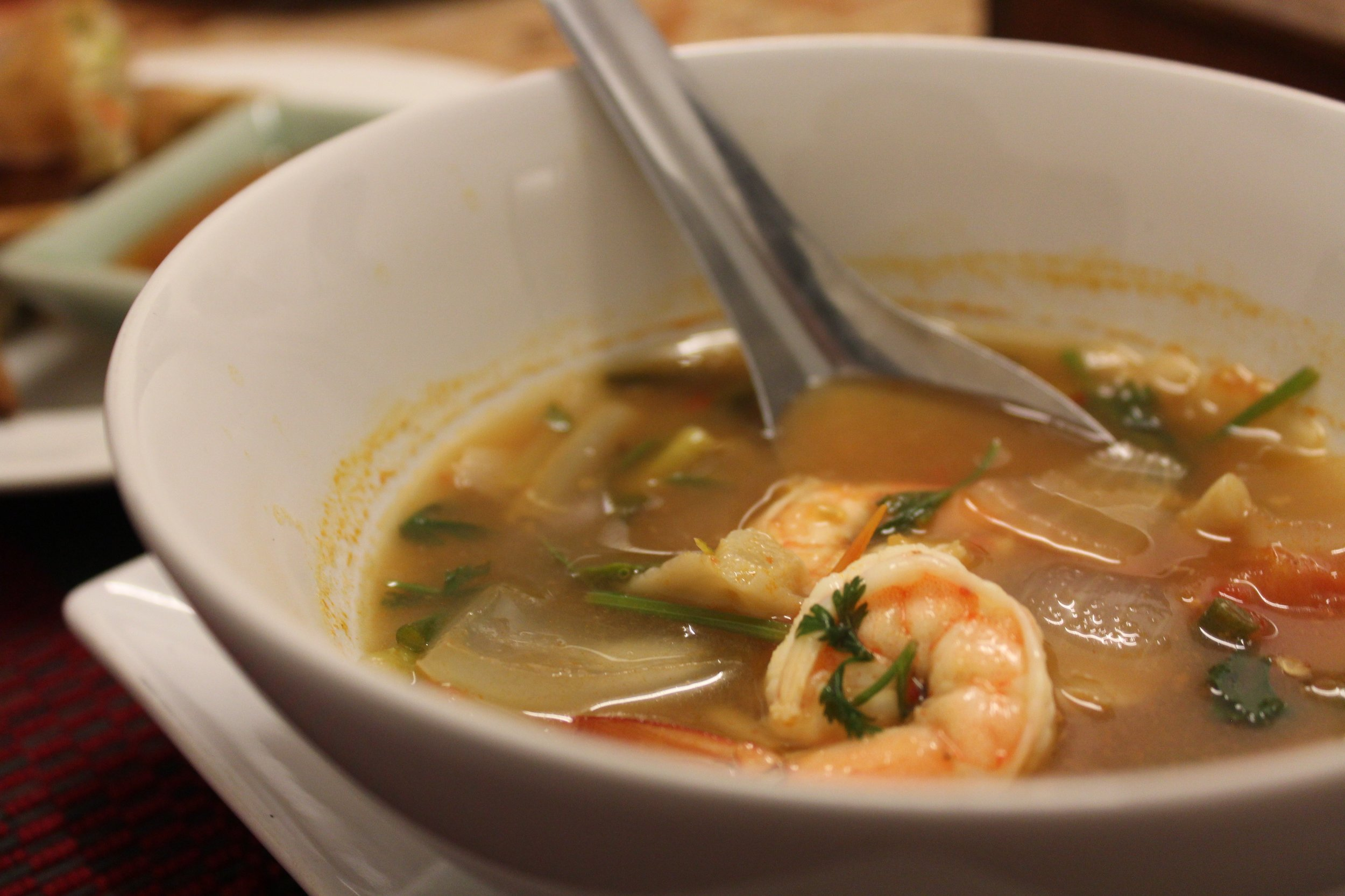 Hot and Sour Prawn Soup