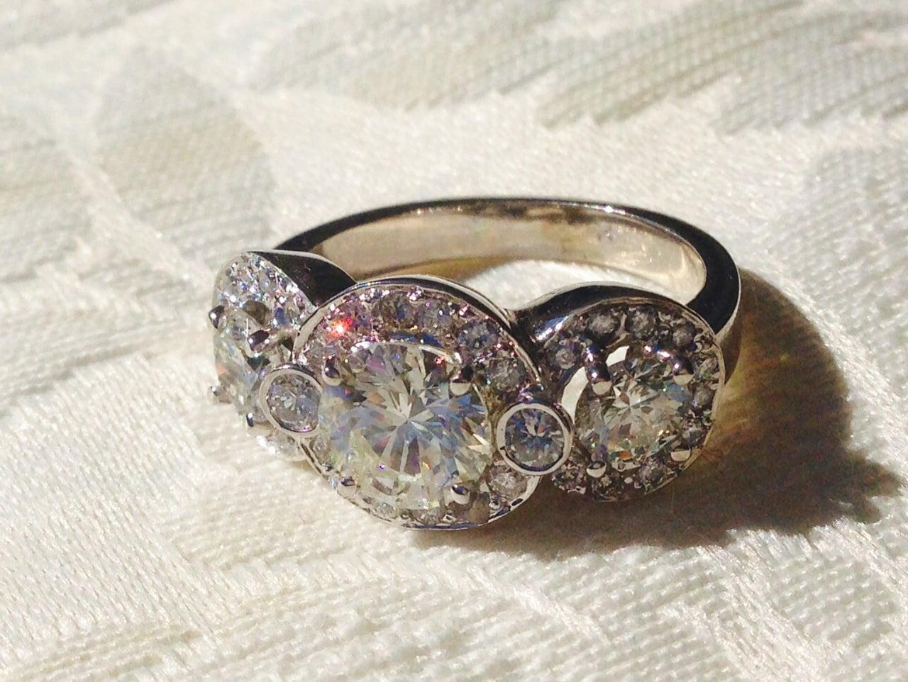 Three Stone Engagement Ring Reset
