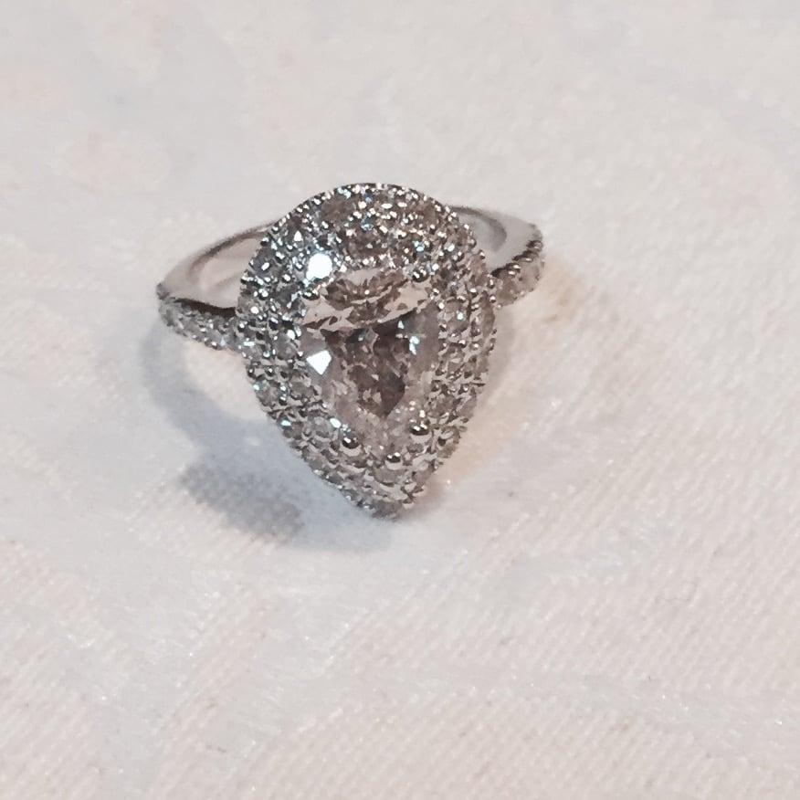 Pear Shape Diamond Reset