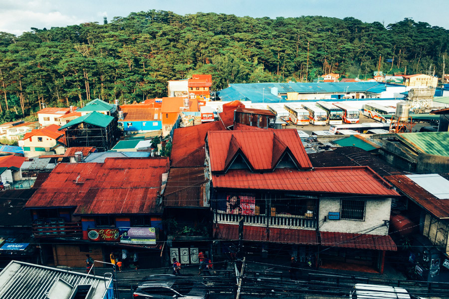 Baguio rooftops from Microtel.