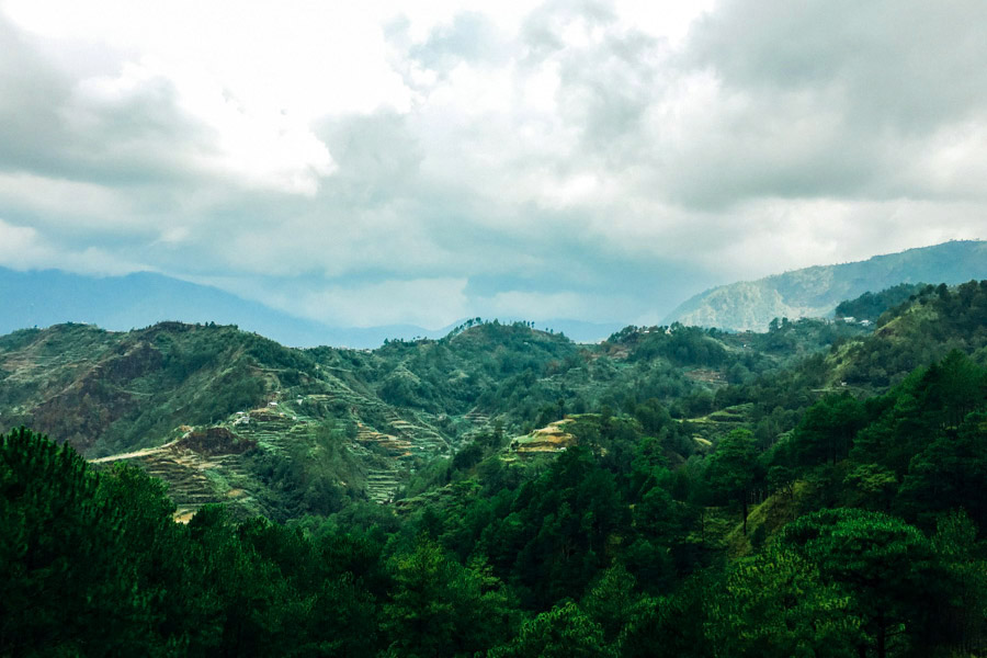 The route from Baguio to Sagada is an incredible six hours of intense winding roads on a giant bus. It's worth it, for views like this.