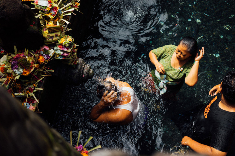 One of the most revered temples on Bali is the Tirta Empul, know for its holy waters that flow from sacred springs. Locals and tourists flock here to make offerings, bathe, and pray. It's a beautiful and spiritual place, even with the crowds.