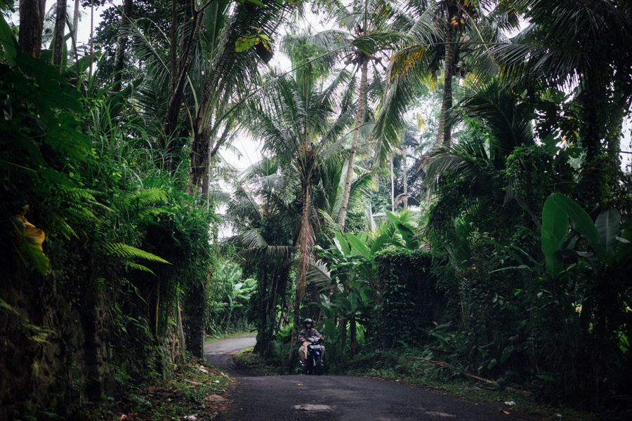 On the road through rural Bali.
