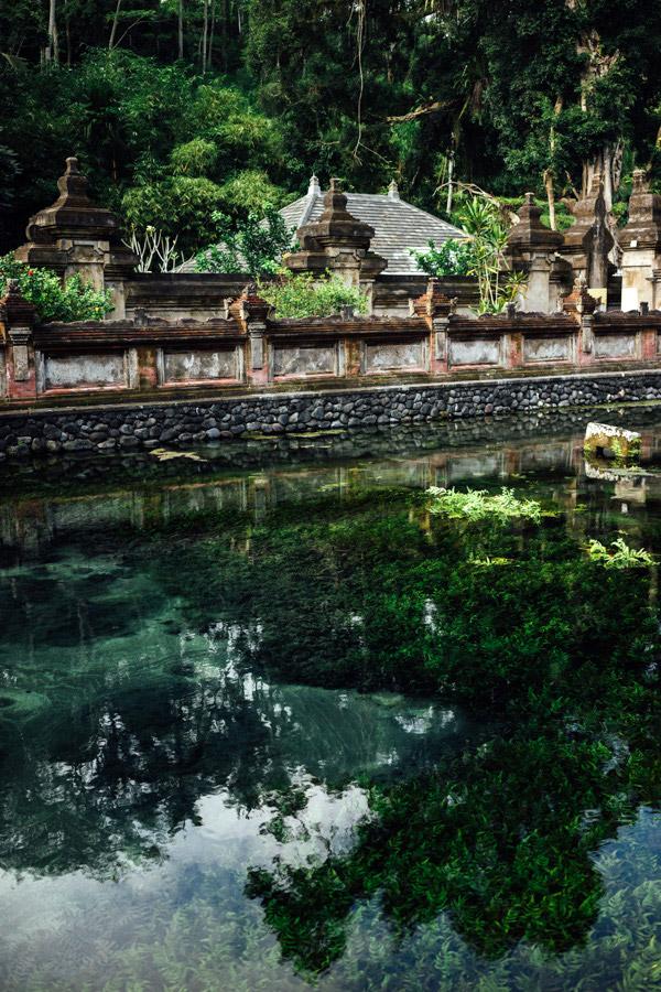 The natural holy springs at Tirta Empul.