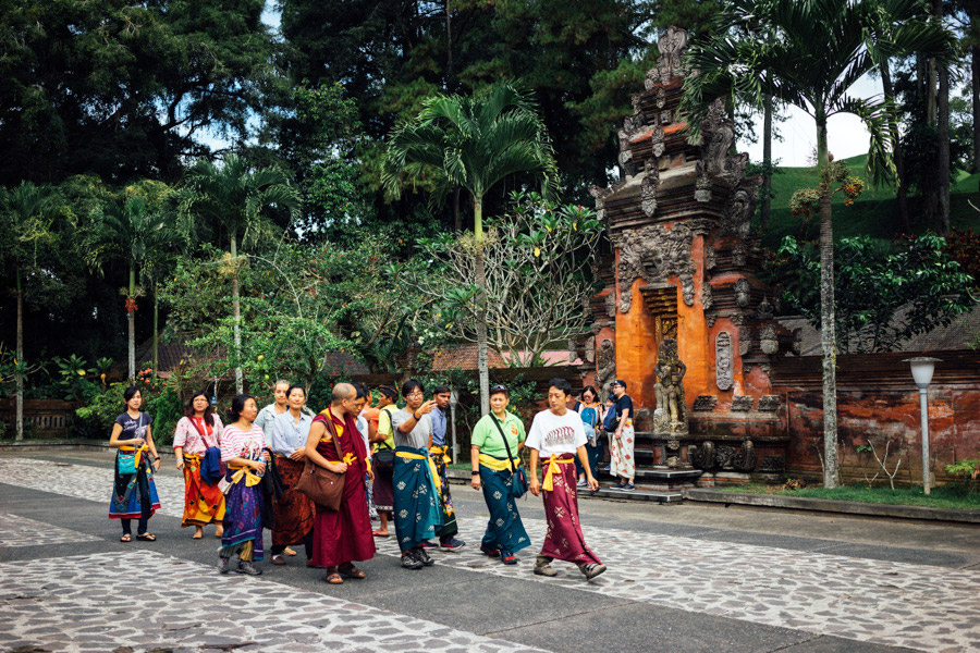 Color sarongs are everywhere in Bali.