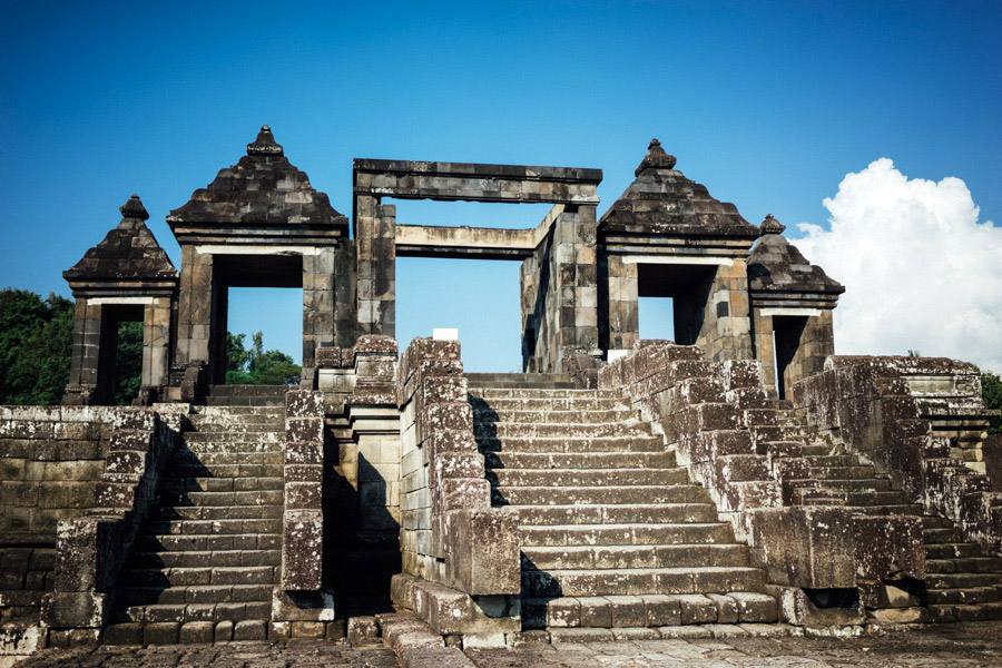 The main gates at Ratu Boko. This was one of our favorite places because there were very few people on the 16 hectares, and we were free to explore the entire site of ruins unmonitored and unguided!
