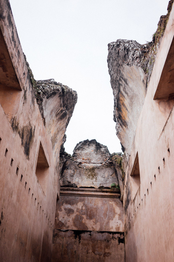 These ruins are on the site of what was once an artificial island called Pulo Kenongo, on the man-made Segaran Lake area in Yogyakarta. The light and color of the buildings here were beautiful!