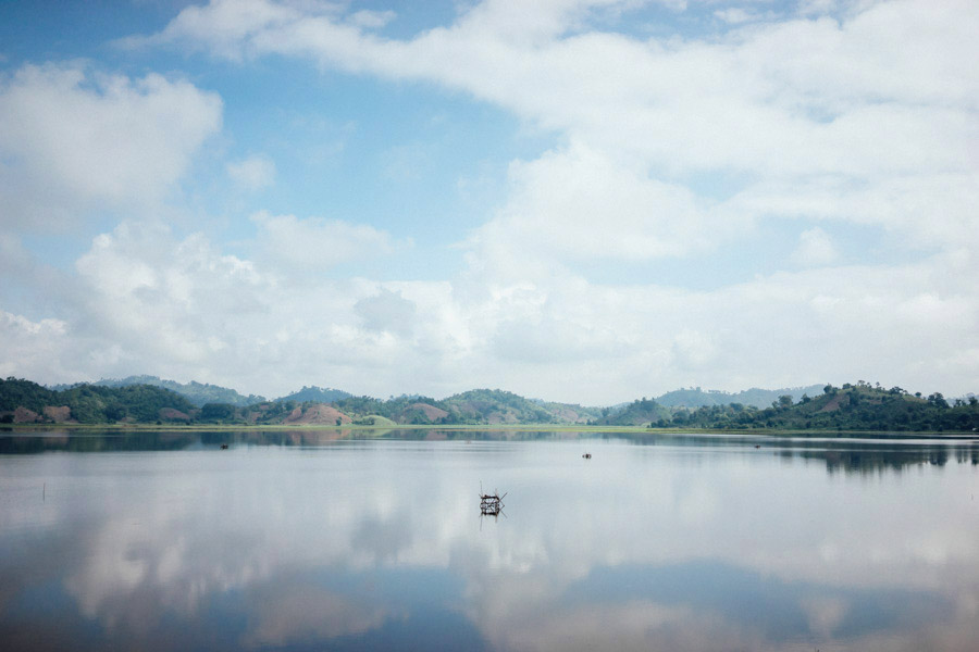 The tranquil morning waters of Lak Lake, a huge source of food and water for the ethnic Mnong people of the Central Highlands. Our guide Tintin told us that there is no developed irrigation system, so the villagers often come to the lake to pump water to take back to their homes.