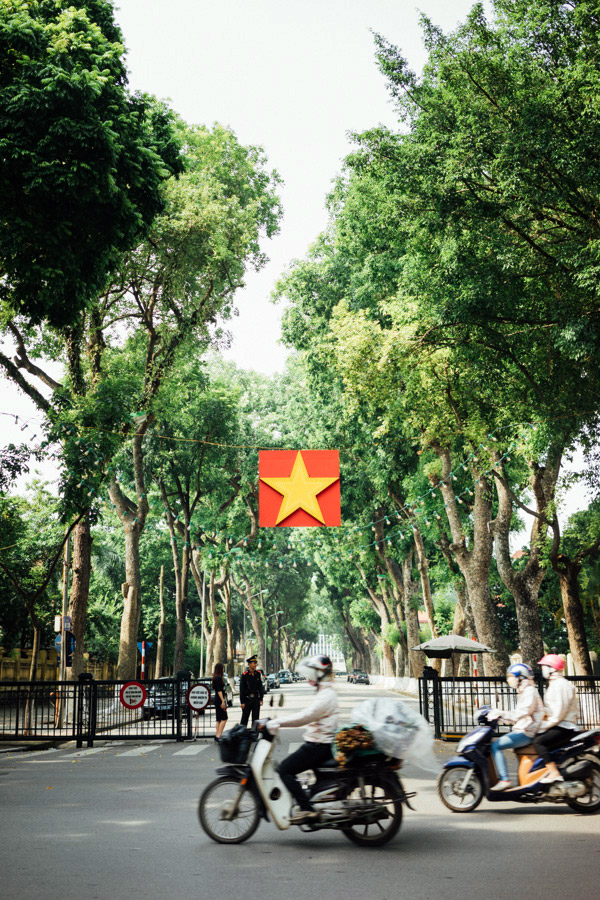 The Communist Party of Vietnam's headquarters.