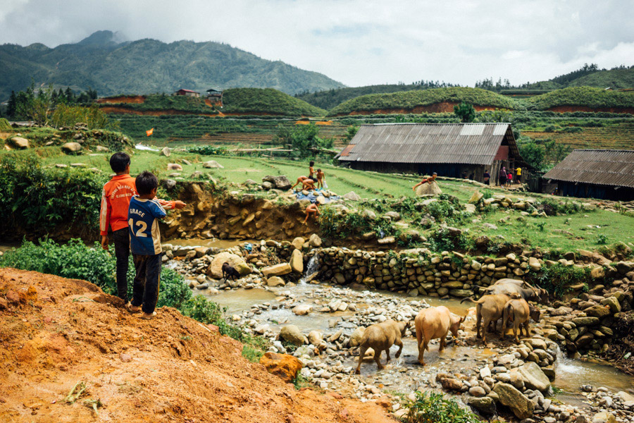 A slice of rural life outside of Sapa town.