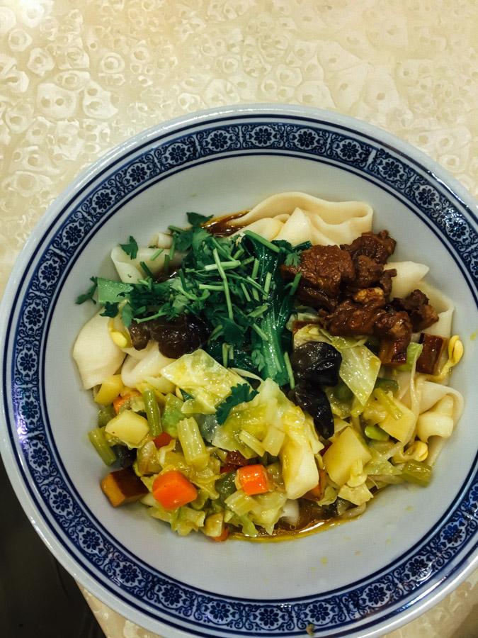 Xi'an noodle bowl.