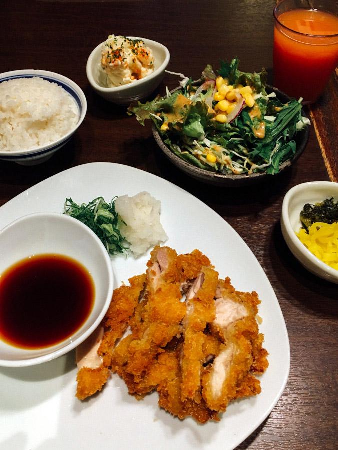 Tonkatsu -a breaded, deep-fried pork cutlet.