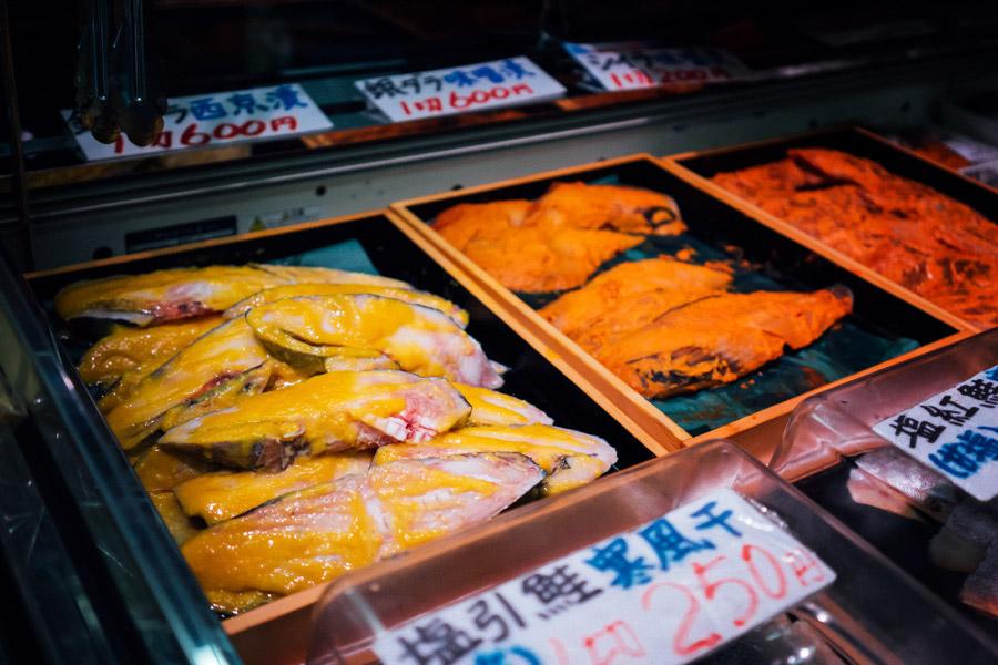 At the Tsukiji Fish Market in Tokyo, Japan.