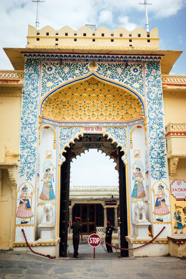 Intricate details of Udaipur's City Palace.