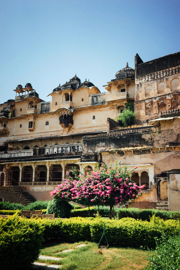 The only well-kept part of Bundi's deteriorating City Palace.