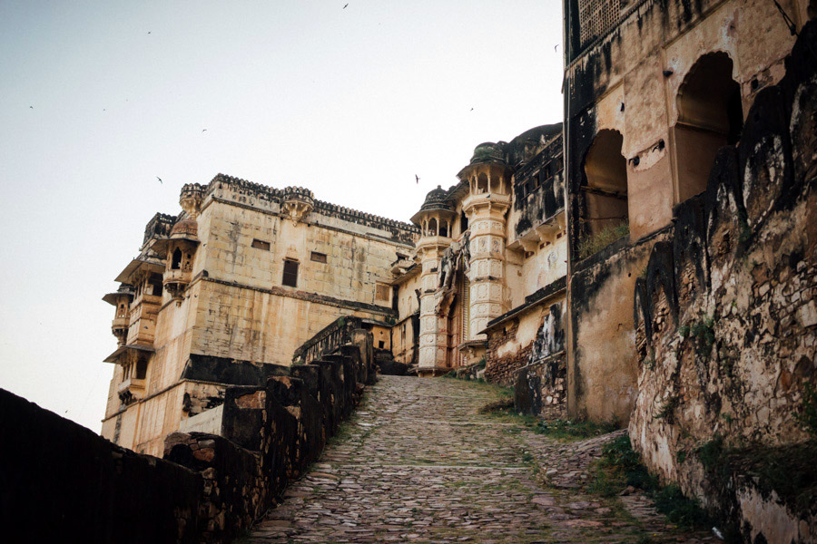 It's a steep climb up to the ancient City Palace and Taragarh Fort.